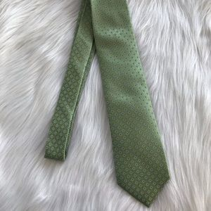 Saddlebred Neck Tie XL Green and Blue - Pre-owned